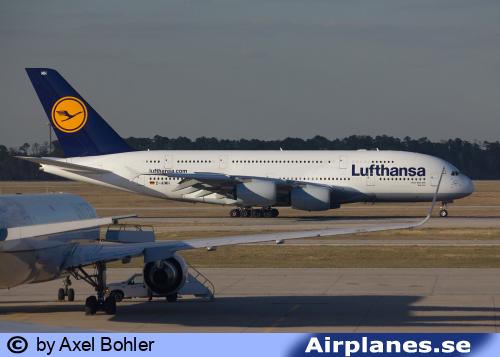 Lufthansa A380 i Houston